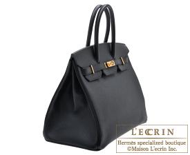 fbc533b30b ... Hermes Birkin bag 35 Black Epsom leather Gold hardware