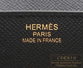 Hermes Birkin bag 35 Black Epsom leather Gold hardware