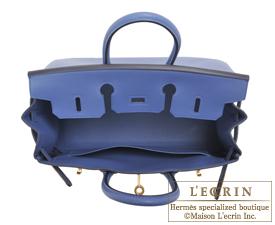 Hermes Birkin bag 25 Blue brighton Swift leather Gold hardware