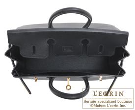 Hermes Birkin bag 25 Black Epsom leather Gold hardware