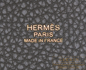 Hermes Picotin Lock bag PM Etain/Etain grey Clemence leather Gold hardware