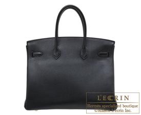 Hermes Birkin bag 35 Black Novillo leather Gold hardware