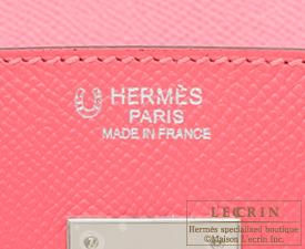 Hermes Birkin bag 30 Rose azalee/Etoupe grey Epsom leather Silver hardware