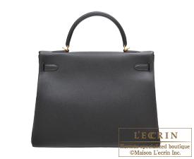 Hermes Kelly bag 35 Black Togo leather Gold hardware