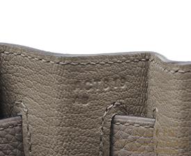 Hermes Kelly bag 32 Gris asphalt Togo leather Silver hardware