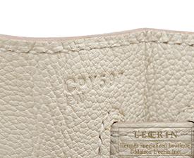 Hermes Kelly bag 32 Craie Togo leather Gold hardware