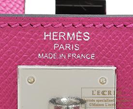 Hermes Kelly bag 28 Rose purple Epsom leather Silver hardware