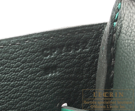 Hermes Birkin Verso bag 35 Vert vertigo/Vert fonce Clemence leather Silver hardware