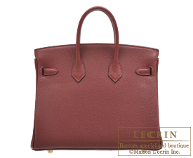 Hermes Birkin bag 25 Rouge H Togo leather Gold hardware