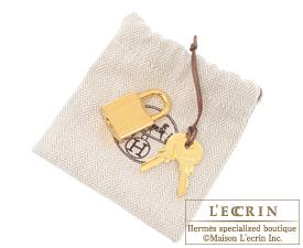 Hermes Picotin Lock bag GM Beton Clemence leather Gold hardware