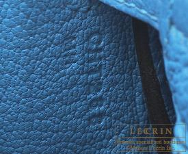 Hermes Kelly bag 25 Blue zanzibar Togo leather Silver hardware