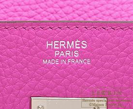 Hermes Birkin bag 30 Magnolia Clemence leather Silver hardware