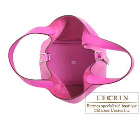 Hermes Picotin Lock bag PM Magnolia Clemence leather Silver hardware