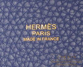 Hermes Picotin Lock bag MM Blue brighton Clemence leather Gold hardware