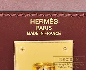 Hermes Kelly bag 28 Rouge H Sombrero leather Gold hardware