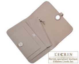 Hermes Dogon GM Gris asphalt Togo leather Silver hardware