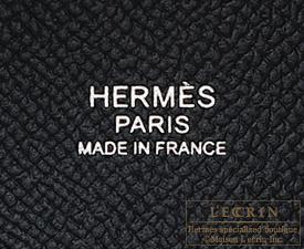 Hermes Picotin Lock Tressage De Cuir bag PM Blue indigo/Black/Terre battue Epsom leather Silver hardware