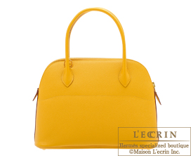 Hermes Bolide bag 27 Jaune ambre Epsom leather Gold hardware