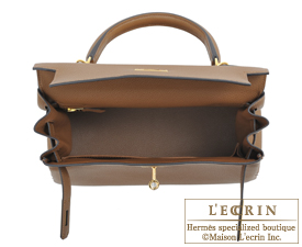 Hermes Kelly bag 28 Alezan Togo leather Gold hardware