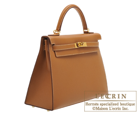 Hermes Kelly bag 32 Gold Epsom leather Gold hardware