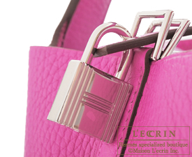 Hermes Picotin Lock bag MM Magnolia Clemence leather Silver hardware