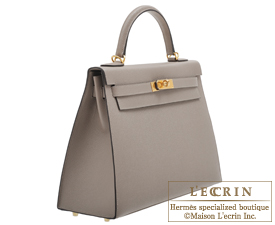 Hermes Kelly bag 32 Gris asphalt Epsom leather Gold hardware
