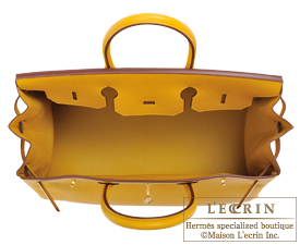 Hermes Birkin bag 35 Jaune ambre Epsom leather Gold hardware