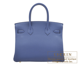 Hermes Birkin bag 30 Blue brighton Togo leather Gold hardware