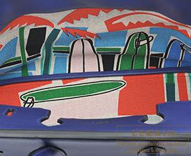 Hermes Birkin bag 35 Sea,Surf and Fun Blue saphir Novillo leather/Toile H Silver hardware