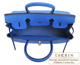 Hermes Birkin bag 30 Blue zellige Togo leather Gold hardware