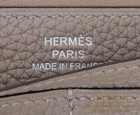 Hermes Dogon LONG Gris asphalt Togo leather Silver hardware