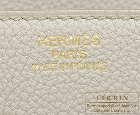 Hermes Birkin bag 35 Beton Togo leather Gold hardware