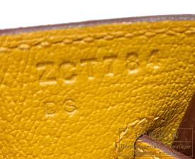 Hermes Birkin bag 25 Jaune ambre Togo leather Gold hardware