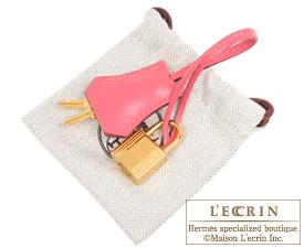 Hermes Birkin bag 25 Rose lipstick Tadelakt leather Gold hardware