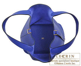 Hermes Birkin bag 30 Blue electric Clemence leather Gold hardware