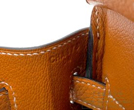 Hermes Birkin bag 25 Toffee Togo leather Gold hardware
