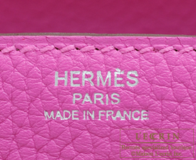Hermes Lindy bag 26 Magnolia Clemence leather Silver hardware
