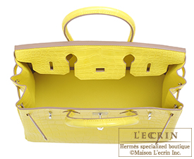 Hermes Birkin bag 30 Lime Matt alligator crocodile skin Silver hardware ... f5c913960358d