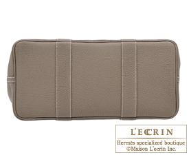 Hermes Garden Party bag PM Etoup grey Negonda leather Silver hardware