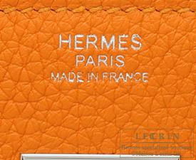 Hermes Birkin bag 30 Apricot Clemence leather Silver hardware