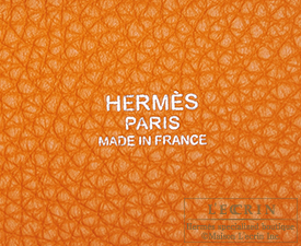 Hermes Picotin Lock bag PM Apricot Clemence leather Silver hardware