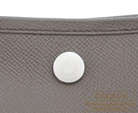 Hermes Garden Party bag TPM Etain  Epsom leather Silver hardware