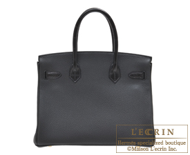 3e5dc09695 Hermes Birkin Touch bag 30 Black Togo leather Matt alligator crocodile skin  Gold hardware ...