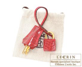 Hermes Birkin bag 25 Braise Niloticus crocodile skin Gold hardware