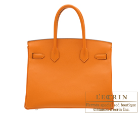 Hermes Birkin bag 30 Apricot Epsom leather Silver hardware ... a3d4a899d2210