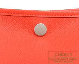 Hermes Garden Party bag PM Rose jaipur  Epsom leather Silver hardware