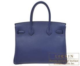Hermes Birkin bag 30 Blue saphir Novillo leather Silver hardware