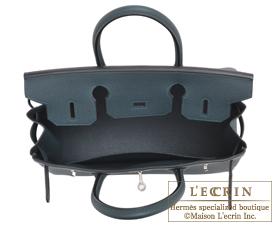 Hermes Birkin bag 30 Vert cypres Togo leather Silver hardware