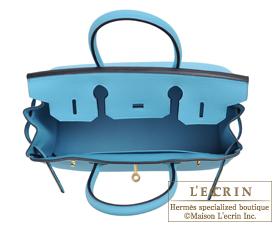 Hermes Birkin bag 30 Blue du nord Togo leather Gold hardware