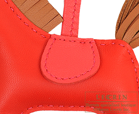 Hermes Rodeo charm Rouge indien/Gold Agneau